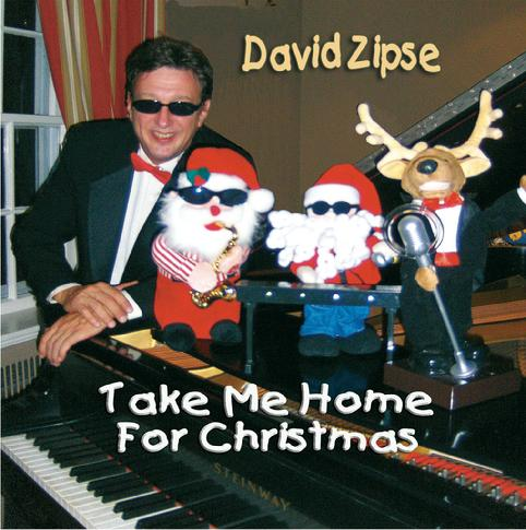 "David Zipse ""Take Me Home For Christmas"" CD, solo jazz piano music"